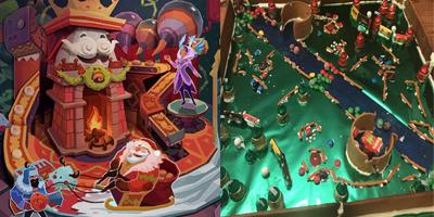 """LMHT: Game thủ """"xây"""" map Summoner's Rift Giáng Sinh bằng bánh gừng"""