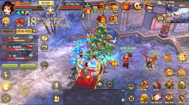 Tân Thiên Long Mobile VNG ra mắt một chế độ chơi mới mừng lễ Noel