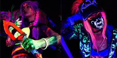 LMHT: Mãn nhãn với cosplay Kai'Sa – Akali K/DA neon rực rỡ sắc màu